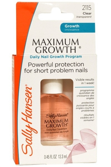 Sally Hansen Maximum Growth Daily Nail Growth Program 13ml Clear Transparent