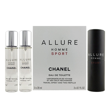 Chanel Allure Homme Sport EdT  spray 20  ml 2 x 20 ml EdT Refill