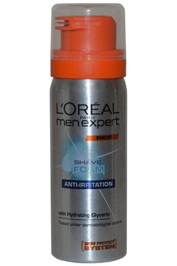 L Oreal Men Expert Skin Caring Shave Foam 50ml Anti Irritation