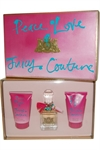 Juicy Couture - Peace Love and Juicy Eau de Parfum Spray 50ml Body Lotion 125ml, S/Gel 125ml
