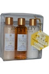 Bronnley Honey Blossom  Bath & Body Collection 3x100ml Elixir/Wash/Lotio