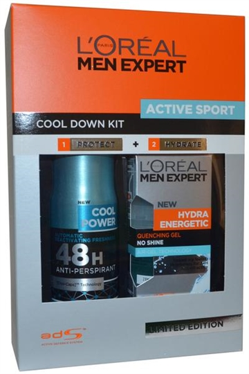 L Oreal Men Expert Active Sport Set- Anti Perspirant 150ml Hydra Energetic Quenching