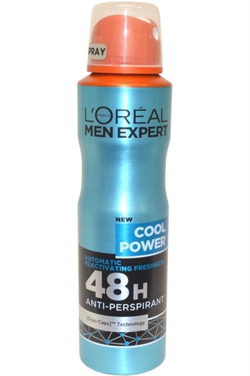 L Oreal Men Expert by L'Oreal Anit Perspirant Spray 48h 150ml Cool Power