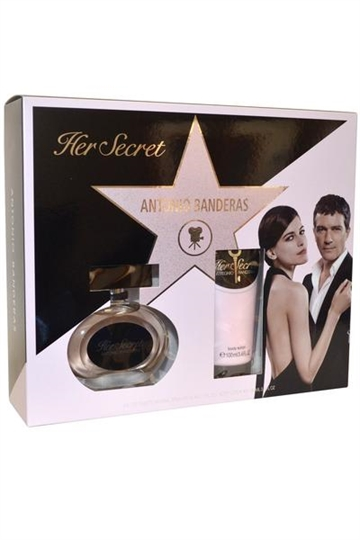 Antonio Banderas Her Secret Eau de Toilette Spray 50ml Body Lotion 100ml